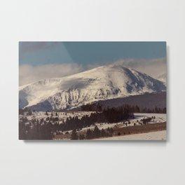 Golden Mountain Metal Print