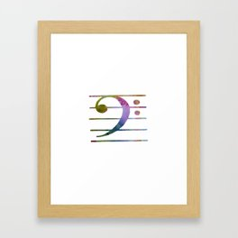 Bass Clef Framed Art Print