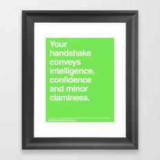 Handshake Framed Art Print