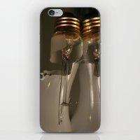 bad idea iPhone & iPod Skins featuring Reflecting on a Bad Idea by carol ann garner
