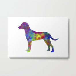 Montenegrin Mountain Hound in watercolor Metal Print