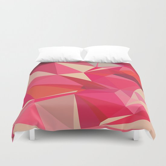 Ruby and Raspberry Duvet Cover