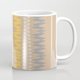 Neutral Lines With Yellow Blue Minimal Abstract Coffee Mug