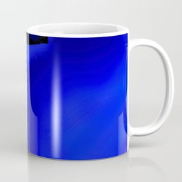 Abstraction in Lapis and Red Coffee Mug