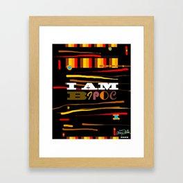 I AM BIOPC Framed Art Print
