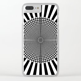Circle of Triangles against Lines Clear iPhone Case