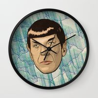 spock Wall Clocks featuring Spock by Mimi
