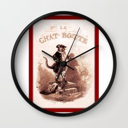 Puss in Boots (Le chat botté) Wall Clock