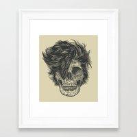dead Framed Art Prints featuring Dead Duran by Rachel Caldwell