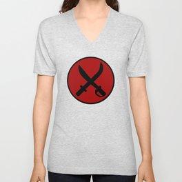 Red Cap Unisex V-Neck