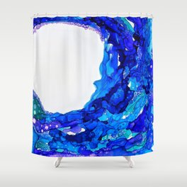 W A V E S Shower Curtain
