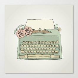 Retro typewriter Canvas Print