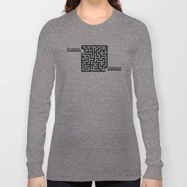 Problem Solution Maze Long Sleeve T-shirt