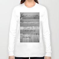 jane austen Long Sleeve T-shirts featuring Jane Austen Reading by KimberosePhotography