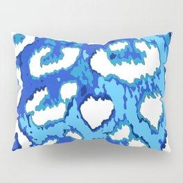 Blue and White Leopard Spots Pillow Sham