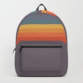 Classic 70s 80s STyle Retro Stripes Pixel Drops - Aimatsu Backpack