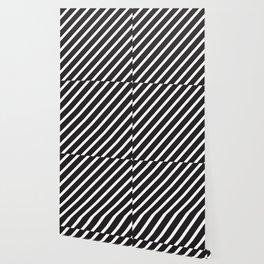 Black diagonal lines pattern Wallpaper
