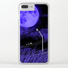 .:Birds n powerlines:. Clear iPhone Case