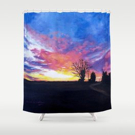 Delta Flames Shower Curtain