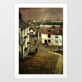 Whitby from The Steps Art Print