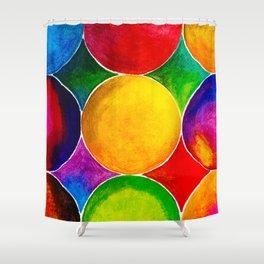 Geometric Brights #2 Shower Curtain