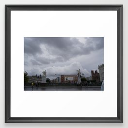 Berlin clouds Framed Art Print