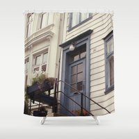 norway Shower Curtains featuring Norway II by Cynthia del Rio