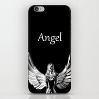 angel wings iPhone & iPod Skins featuring Angel Wings by Shaunia McKenzie