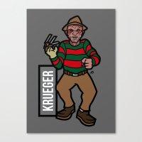 freddy krueger Canvas Prints featuring Freddy Krueger by AhamSandwich