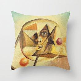 Illuminati Confirmed Geometric Painting By R.G. Kasper Throw Pillow