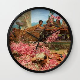 1888 Classical Masterpiece 'The Roses of Heliogabalus' by Sir Lawrence Alma-Tadema Wall Clock