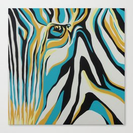 "Stripe Zebra ""Serengeti Series"" Canvas Print"