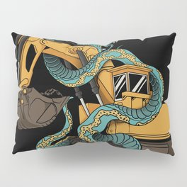 Excavator vs Anaconda Pillow Sham