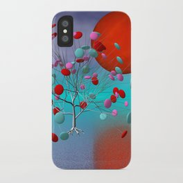 fancy tree and full moon -2- iPhone Case