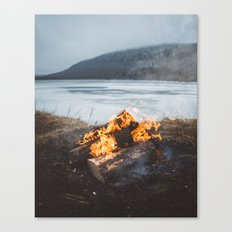 Cozy Campfire Canvas Print