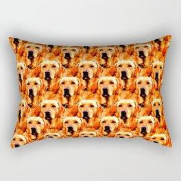 Cool Dog Art Doggie Golden Retriever Abstract Rectangular Pillow