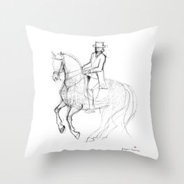Horse (Canter Pirouette) Throw Pillow