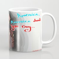 hetalia Mugs featuring America, America Don't You Cry by AquaticGalaxy