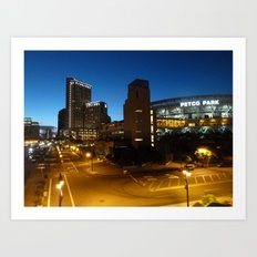 Petco Park at Night Art Print