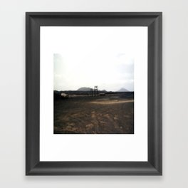bruised skies Framed Art Print