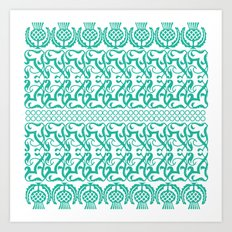 Lace pineapple pattern Art Print