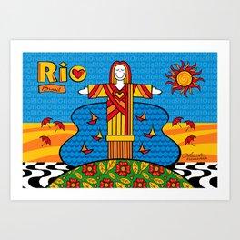 Cristo Rio Art Print