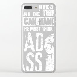 Cancer Hospital product - God Must Think I'm A Badass Clear iPhone Case