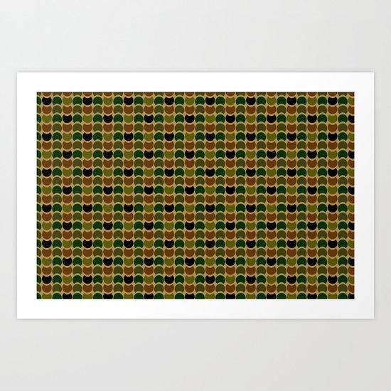 HobNob Camo Multi Art Print