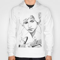 bob dylan Hoodies featuring BOB  DYLAN by ART FEEDS HUNGER