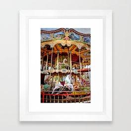Double Decker Carnival Carousel Horse Framed Art Print
