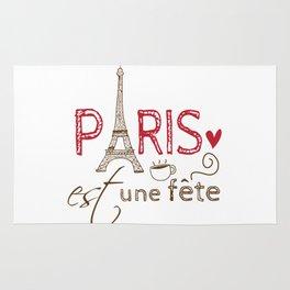 Paris Est Une Fête - Eiffel Tower Rug