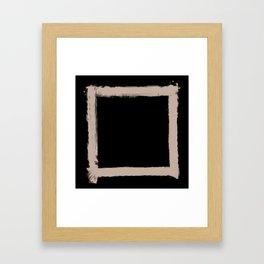 Square Strokes Nude on Black Framed Art Print