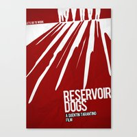 reservoir dogs Canvas Prints featuring Reservoir Dogs by Andres Asencio