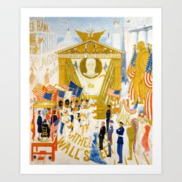 The Cathedrals of Wall Street by Florine Stettheimer, 1939 Art Print